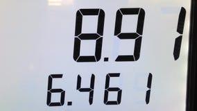Wzrastający koszt pompować gaz Zdjęcia Stock