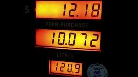 Wzrastający koszt pompować gaz zdjęcie wideo
