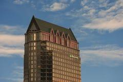 Wzrastający wzrost 579 cieków i 42 podłogi w W centrum Tampa obecnie struktura stojaki obraz stock