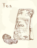 Wzrastam herbaciany pakować, wektorowa ilustracja Fotografia Stock