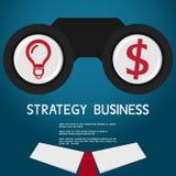 Wzrok i strategia dla sukcesu biznesu 3d bizneswomanu pojęcia ręka target4621_0_ wzroku słowo Obrazy Stock