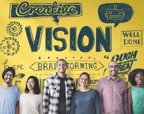 Wzrok pomysłów inspiraci celu Kreatywnie pojęcie Zdjęcie Stock