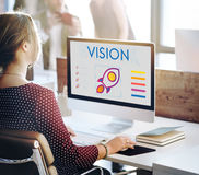 Wzrok technologii pracy kobiet pojęcie obraz stock
