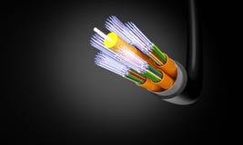 Wzrokowy włókno kabel royalty ilustracja