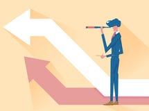 Wzroku pojęcie w planie biznesowym sukces ilustracja wektor