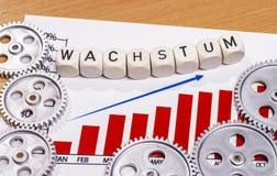 Wzrost gospodarczy z przekładniami zdjęcie royalty free