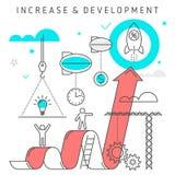 Wzrost i rozwój royalty ilustracja