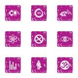 Wzrost pieniądze ikony ustawiać, grunge styl Zdjęcia Royalty Free