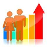 Wzrost populacji ilustracja wektor