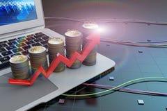 Wzrost sytuacja gospodarcza ilustracja wektor