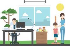 Wzrosta pomiar dla dzieci ilustracji