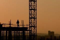 wzrosta wysoki pracownik obrazy stock