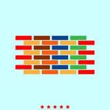 Wzrostowa mapa ja jest koloru ikoną Zdjęcie Royalty Free