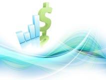 Wzrostowa statystyczna pieniężna rama. Eps10 Zdjęcia Stock