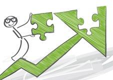 Wzrostowa strategia Ilustracja Wektor