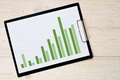 Wzrostowego trendu prętowa mapa Fotografia Stock