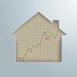 Wzrostowej mapy domu dziury rynek nieruchomości royalty ilustracja
