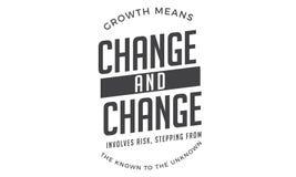 Wzrostowi sposoby zmiana i zmiana wymagają ryzyko ilustracja wektor