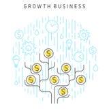 Wzrostowy biznes ilustracja wektor