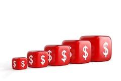 Wzrostowy Dolarowy wykres Zdjęcia Stock
