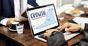 Wzrostowy wykres mapy planu biznesowego strategii pojęcie Fotografia Stock