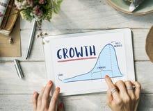 Wzrostowy wykres mapy planu biznesowego strategii pojęcie Obrazy Royalty Free