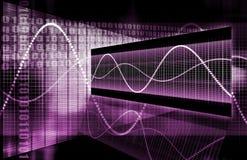 wzrostowych internetów online purpurowa sieć Zdjęcia Stock