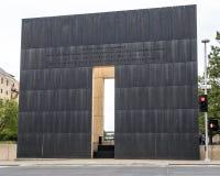 Wzruszająco wiadomość plecy 9:03 AM końcówki ściana, Oklahoma miasta pomnik Zdjęcie Royalty Free