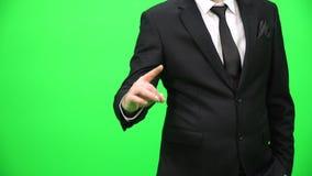 Wzruszający wirtualny ekran Ręka dotyka gesty zbiory