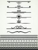 Wzywa nad teksta dividers i granicy czarny i biały, Obrazy Royalty Free
