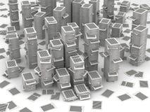 Wzywa papierowe sterty 3d isometry royalty ilustracja