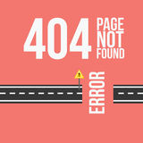 Wzywa znajdującego błędu 404 projekt dla strony internetowej lub blog w płaskim stylu Obraz Royalty Free