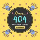 Wzywa znajdujący, 404 błędów wektoru ilustracja royalty ilustracja