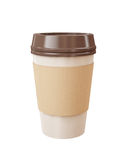 Xícara de café afastada isolada no fundo branco Imagens de Stock Royalty Free