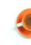 Xícara de café alaranjada Fotos de Stock Royalty Free