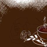 A xícara de café com aumentou ilustração royalty free
