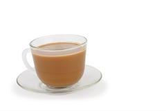 Xícara de café com creme e pires Imagens de Stock Royalty Free