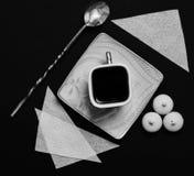Xícara de café com doces Imagem de Stock