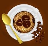 Xícara de café com o sinal Imagem de Stock