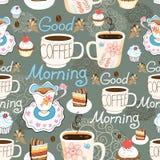 Xícara de café deliciosa do teste padrão Imagem de Stock Royalty Free
