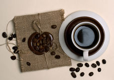 Xícara de café disparada da parte superior Imagens de Stock Royalty Free