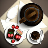Xícara de café do café da manhã Ilustração do Vetor