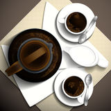 Xícara de café do café da manhã Ilustração Royalty Free