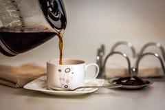 Xícara de café e chocolate Foto de Stock