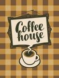 Xícara de café e moldura para retrato Fotografia de Stock Royalty Free