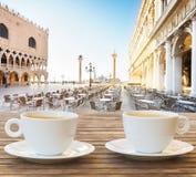 Xícara de café em Veneza Imagens de Stock Royalty Free
