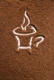 Xícara de café, fundo Fotografia de Stock Royalty Free