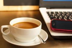 xícara de café na cafetaria Foto de Stock