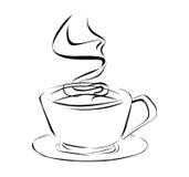 Xícara de café no estilo brushy Fotos de Stock
