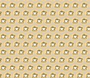 Xícara de café no fundo claro Teste padrão sem emenda para o projeto Ilustração do vetor Foto de Stock